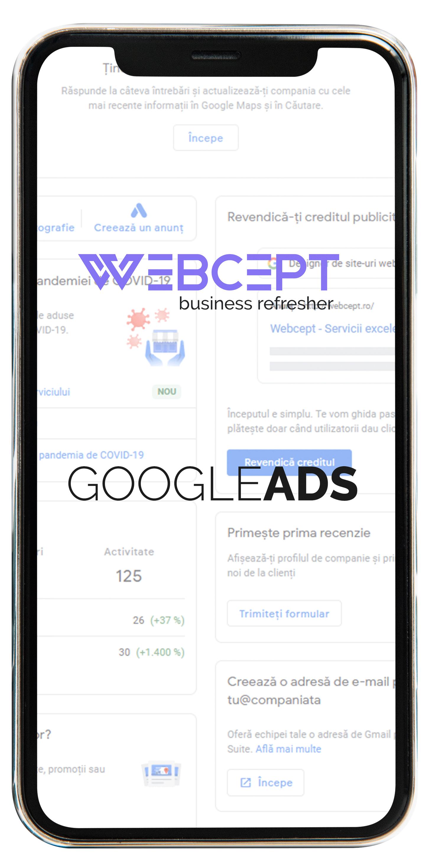 Iphone Promovare Google ADS - Webcept