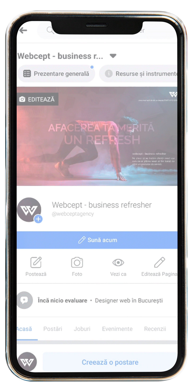 Iphone Promovare Facebook ADS - Webcept
